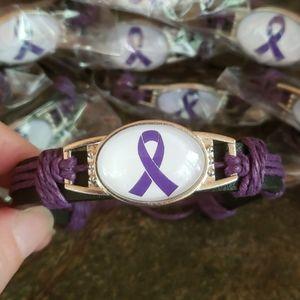 Jewelry - 🏡DV Purple Ribbon Hope Bracelet Domestic Violence